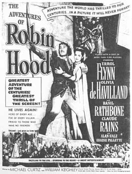 The Adventures of Robin Hood - 11 x 17 Movie Poster - Style R