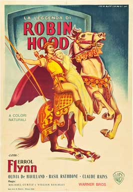The Adventures of Robin Hood - 27 x 40 Movie Poster - Italian Style B