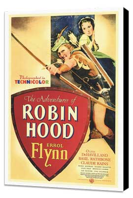 The Adventures of Robin Hood - 27 x 40 Movie Poster - Style A - Museum Wrapped Canvas