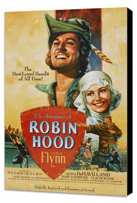 The Adventures of Robin Hood - 27 x 40 Movie Poster - Style B - Museum Wrapped Canvas