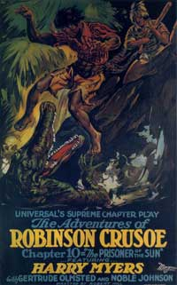 The Adventures of Robinson Crusoe - 11 x 17 Movie Poster - Style B