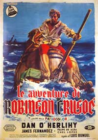 The Adventures of Robinson Crusoe - 11 x 17 Movie Poster - Italian Style A