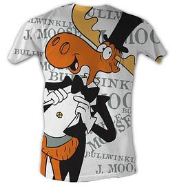 The Adventures of Rocky & Bullwinkle - Putting on the Ritz White T-Shirt