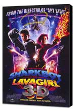 The Adventures of Shark Boy & Lava Girl in 3-D - 11 x 17 Movie Poster - Style A - Museum Wrapped Canvas