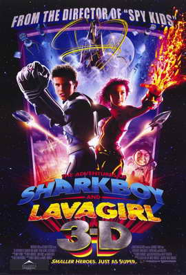 The Adventures of Shark Boy & Lava Girl in 3-D - 11 x 17 Movie Poster - Style A