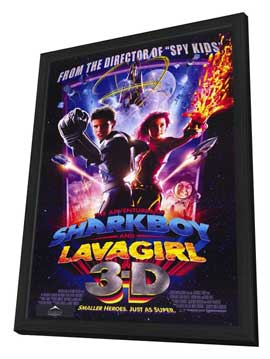 The Adventures of Shark Boy & Lava Girl in 3-D - 11 x 17 Movie Poster - Style A - in Deluxe Wood Frame