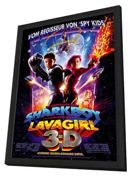 The Adventures of Sharkboy and Lavagirl 3-D - 11 x 17 Movie Poster - German Style A - in Deluxe Wood Frame