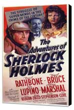 The Adventures of Sherlock Holmes - 11 x 17 Movie Poster - Style C - Museum Wrapped Canvas