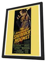 The Adventures of Sherlock Holmes - 27 x 40 Movie Poster - Style A - in Deluxe Wood Frame