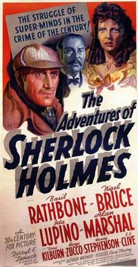 The Adventures of Sherlock Holmes - 20 x 40 Movie Poster - Style A