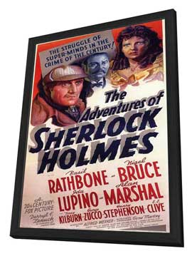 The Adventures of Sherlock Holmes - 11 x 17 Movie Poster - Style C - in Deluxe Wood Frame