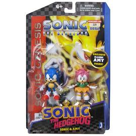 The Adventures of Sonic the Hedgehog - Comic Pack Amy and Sonic Action Figures