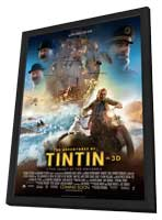 The Adventures of Tintin: The Secret of the Unicorn - 27 x 40 Movie Poster - Style B - in Deluxe Wood Frame