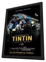 The Adventures of Tintin: The Secret of the Unicorn - 11 x 17 Movie Poster - Italian Style A - in Deluxe Wood Frame