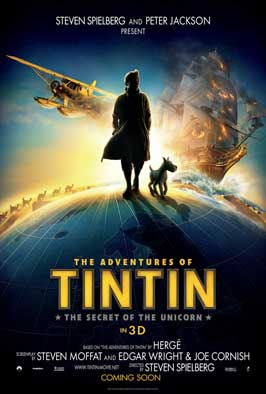 The Adventures of Tintin: The Secret of the Unicorn - 27 x 40 Movie Poster - Style A
