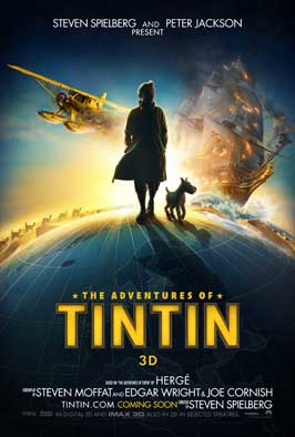 The Adventures of Tintin: The Secret of the Unicorn - 43 x 62 Movie Poster - Bus Shelter Style A