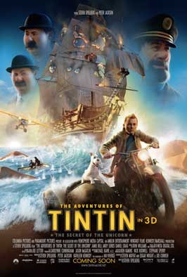 The Adventures of Tintin: The Secret of the Unicorn - 11 x 17 Movie Poster - Style D