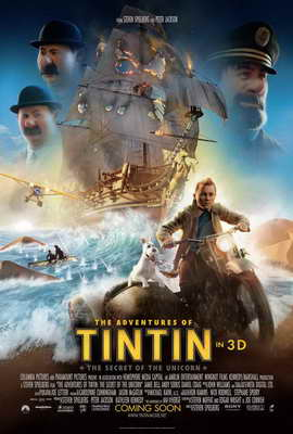 The Adventures of Tintin: The Secret of the Unicorn - 27 x 40 Movie Poster - Style B
