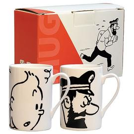The Adventures of Tintin: The Secret of the Unicorn - Haddock and Tintin Mug 2-Pack