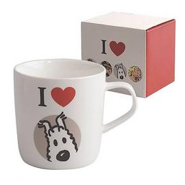 The Adventures of Tintin: The Secret of the Unicorn - I Love Snowy White Mug
