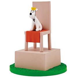 The Adventures of Tintin: The Secret of the Unicorn - Snowy on a Throne Box Scene Mini-Statue