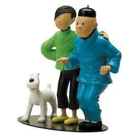 The Adventures of Tintin: The Secret of the Unicorn - Chang Meets Tintin Resin Statue