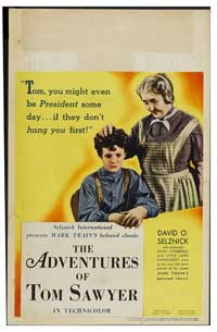The Adventures of Tom Sawyer - 11 x 17 Movie Poster - Style D