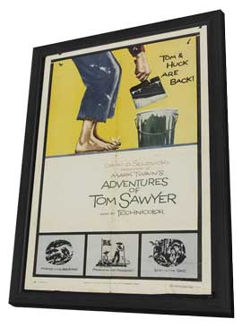 The Adventures of Tom Sawyer - 11 x 17 Movie Poster - Style C - in Deluxe Wood Frame