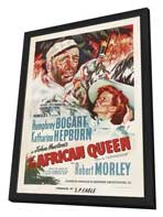 The African Queen - 27 x 40 Movie Poster - Style C - in Deluxe Wood Frame