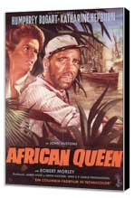 The African Queen - 11 x 17 Movie Poster - German Style A - Museum Wrapped Canvas