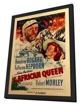 The African Queen - 11 x 17 Movie Poster - Style D - in Deluxe Wood Frame