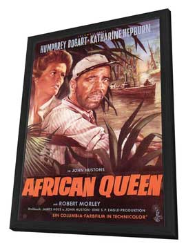 The African Queen - 11 x 17 Movie Poster - German Style A - in Deluxe Wood Frame