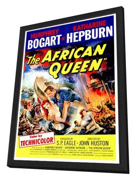 The African Queen - 27 x 40 Movie Poster - Style A - in Deluxe Wood Frame