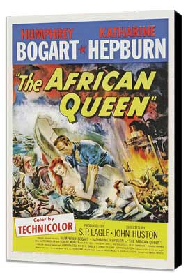 The African Queen - 27 x 40 Movie Poster - Style B - Museum Wrapped Canvas