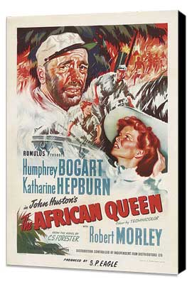 The African Queen - 27 x 40 Movie Poster - Style C - Museum Wrapped Canvas