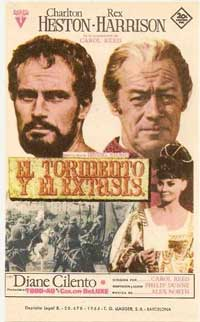 The Agony and the Ecstasy - 11 x 17 Movie Poster - Spanish Style A