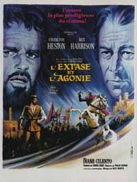 The Agony and the Ecstasy - 11 x 17 Movie Poster - French Style A