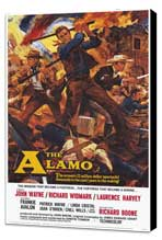 The Alamo - 11 x 17 Movie Poster - Style A - Museum Wrapped Canvas