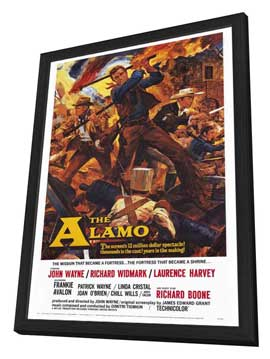 The Alamo - 27 x 40 Movie Poster - Style A - in Deluxe Wood Frame
