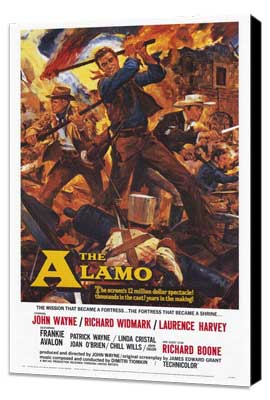 The Alamo - 27 x 40 Movie Poster - Style A - Museum Wrapped Canvas