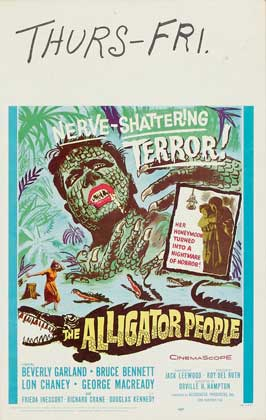 The Alligator People - 11 x 17 Movie Poster - Style D