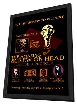 The Amazing Screw-On Head - 11 x 17 Movie Poster - Style A - in Deluxe Wood Frame