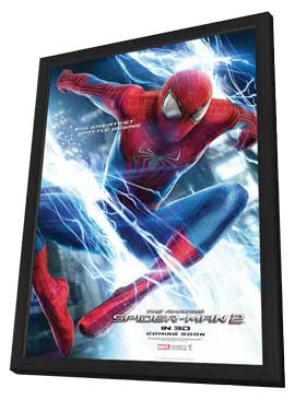 The Amazing Spider-Man 2 - 11 x 17 Movie Poster - Style D - in Deluxe Wood Frame