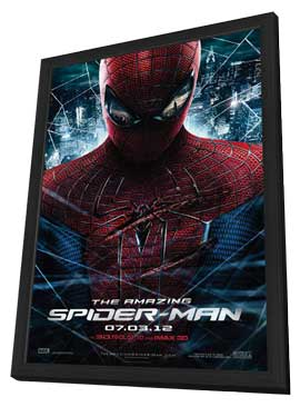 The Amazing Spider-Man - 27 x 40 Movie Poster - Style C - in Deluxe Wood Frame