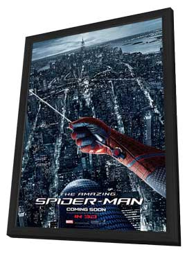 The Amazing Spider-Man - 27 x 40 Movie Poster - Style F - in Deluxe Wood Frame