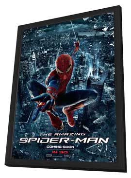 The Amazing Spider-Man - 27 x 40 Movie Poster - Style E - in Deluxe Wood Frame