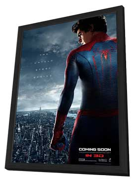 The Amazing Spider-Man - 27 x 40 Movie Poster - Style B - in Deluxe Wood Frame