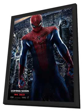 The Amazing Spider-Man - 11 x 17 Movie Poster - Style J - in Deluxe Wood Frame