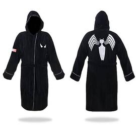 The Amazing Spider-Man - Black and Silver Hooded Cotton Bath Robe