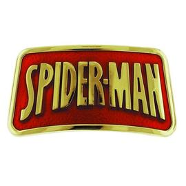 The Amazing Spider-Man - Logo Gold Rectangular Marvel Belt Buckle
